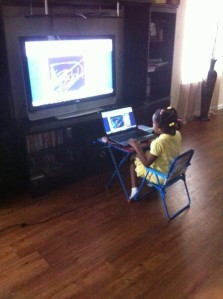 Kendall using abcmouse.com