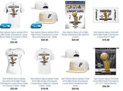 San Antonio Spurs 2014 NBA Championship Gear