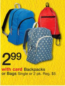 $2.99 Backpacks at Walgreens