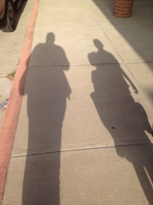Our shadows...lol