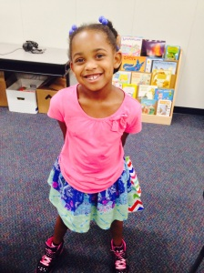 Next stop...Kendall's 1st grade classroom...She's excited!