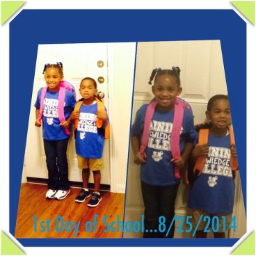 Kids First Day of School 8-25-2014
