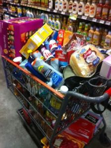 Yes...this is my actual cart from a recent shopping trip and I wasn't finished.
