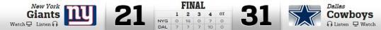 DC vs NY Giants 10-19-2014