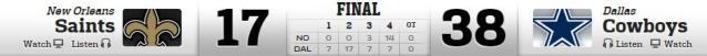DC vs Saints 9-28-2014