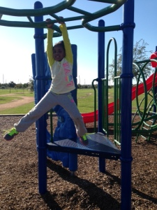 Kendall on Monkey Bars