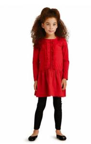 Annika Ruffle Skirted Dress
