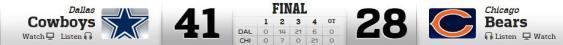 Dallas vs Bears 12-4-2014
