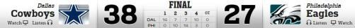 DC vs Eagles 12-14-2014