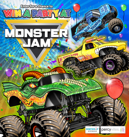 Monster Jam Party Giveaway by Birthday Express